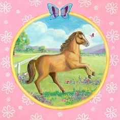 """""""Springtime Gallop"""" - Canvas Wall Art from Oopsy daisy, Fine Art for Kids."""