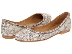 Proud owner of these Frye flats. Metallic Silver go with everything and they are SO comfortable! :)