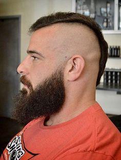Beard and hair Beard And Mustache Styles, Beard Styles For Men, Beard No Mustache, Hair And Beard Styles, Mowhawk Hairstyles, Cool Hairstyles, Mens Hairstyles With Beard, Haircuts For Men, Beard Images