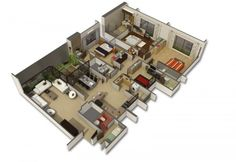 4 Bedroom Apartment/House Plans  50) big-house-layout