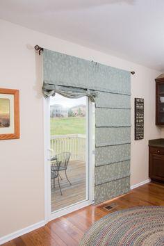 Off White Sliding Gl Door Curtain Shade