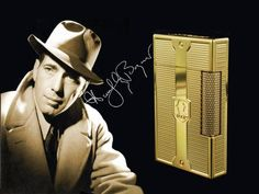 Brand New ST Dupont Humphrey Bogart Ligne 2 Lighter (16024) Grained Yellow Gold As a tribute to an exceptional client of S.T. Dupont, Humphrey Bogart, S.T. Du