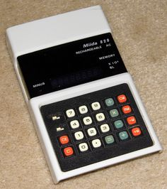 Vintage Miida Electronic Pocket Calculator, Model 828, Rechargeable Batteries, Made In Japan, Circa 1974.