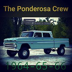 Newest addition to the Rtech Fabrications line of custom builds. The Ponderosa crew cab will have plenty of leg room in the back while keeping the clean lines and style of the 64 to 66 Chevy truck Vintage Chevy Trucks, 67 72 Chevy Truck, Custom Chevy Trucks, C10 Trucks, Classic Chevy Trucks, Pickup Trucks, Lifted Chevy, Antique Trucks, Lifted Trucks