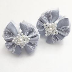 (2) Одноклассники Ribbon Crafts, Ribbon Bows, Baby Hair Clips, Bow Clip, Boutique Hair Bows, Baby Crafts, Headbands, Jewelry Making, Wedding Rings
