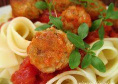 Muszle nadziewane mięsem mielonym - Obżarciuch Spaghetti, Meat, Chicken, Ethnic Recipes, Food, Essen, Meals, Yemek, Noodle