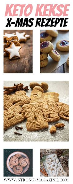 Ketogene Kekse und Low Carb Weihnachtsplätzchen Rezepte Ketogene biscuits – Recipes for Christmas cookies that go with the ketogenic diet Paleo Dessert, Dessert Recipes, Chocolate Sugar Cookie Recipe, Chocolate Chunk Cookies, Keto Cookies, Galletas Keto, Winter Desserts, Biscuit Recipe, Christmas Cookies