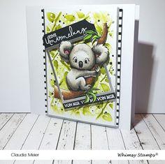 Claudia's Karteria: Koala Umärmelung |  Koala ~ Whimsy Stamps - Love f... The Animals, Creative Depot, Claudia S, Whimsy Stamps, Cool Cards, More Fun, I Card, Teddy Bear, Australia