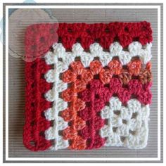 Baby Afghan Crochet, Crochet Dishcloths, Afghan Crochet Patterns, Crochet Stitches, Granny Square Crochet Pattern, Crochet Granny, Double Crochet, Single Crochet, Yarn Colors