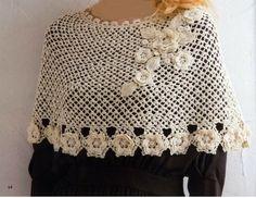 Irish Crochet Poncho (croche)