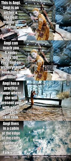 """Skyrim"" facts. As an archer myself, I should totally go find her!"
