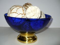 cobalt blue glass bowl Collectible Home decor by designfinder, $20.00