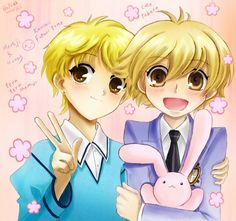 Honey & Momiji! From Ouran High school host club and Fruits Basket<<< SO IM NOT THE ONLY ONE!!!!! And Momiji turns into a bunny so yeah!