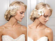 Jannie Baltzer 2013 bridal hair pieces and accessories