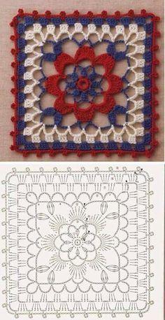 Transcendent Crochet a Solid Granny Square Ideas. Inconceivable Crochet a Solid Granny Square Ideas. Crochet Motifs, Granny Square Crochet Pattern, Crochet Blocks, Crochet Diagram, Crochet Chart, Crochet Squares, Love Crochet, Crochet Flowers, Sac Granny Square