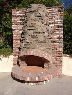 Not bad for a guy in his Outside Fireplace, Home Fireplace, Modern Fireplace, Fireplace Design, Garden Fire Pit, Fire Pit Backyard, Fire Pit Pizza, Indoor Outdoor Fireplaces, Fire Pit Area