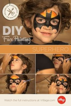 face painting batman step by step - Google Search