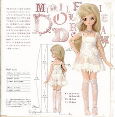 MSD 4 Pieces Lingerie Set Under bust Corset  BJD sewing pattern PDF. $7.90, via Etsy.