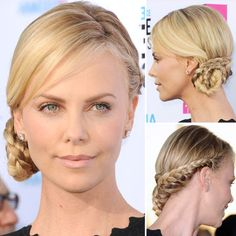 """Saw this in People magazine and tried it out on M. Super easy and so pretty. Her comment, """"We should do more fun things with my hair."""""""