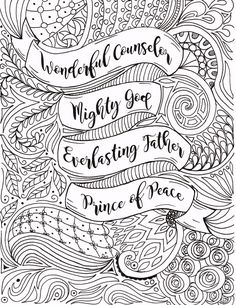 Luke Bible Study Week 4 Conclusion Christmas coloring sheets