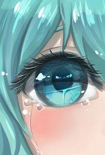 وجوه حزينة كرتون 애니메이션 아트 그림 만화 눈