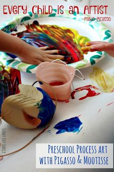 See how my preschoolers helped me discover the true joy of making art in this book inspired art activity.