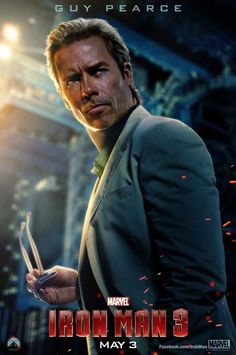 Check out the new 'Iron Man 3' character poster, featuring Guy Pearce as Dr. Aldrich Killian