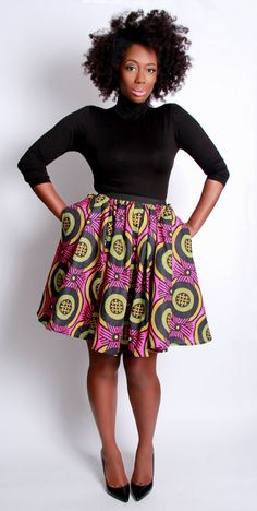.tribal print skirt