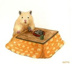 Japanese Artist Depicts the Typical Life of His Hamster Gotte, a Japanese artist and art college graduate, has focused his creative skills on a very c Baby Hamster, Hamster Live, Cute Animal Drawings, Cute Animal Pictures, Cute Drawings, Animals And Pets, Baby Animals, Cute Animals, Japanese Hamster