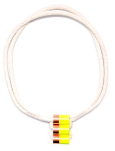 neon dip rope necklace