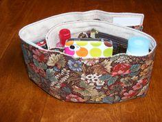 Purse Organizer in Autumn Hues and Oatmeal...great gift...free shipping