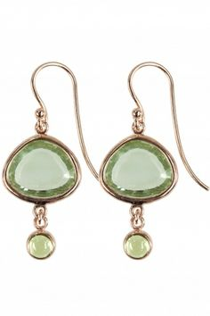 combining rose gold plated sterling silver with peridot and amethyst gems, these #lovely #earrings are inspired the vivid colors of spring I NEWONE-SHOP.COM