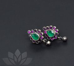 Silver Earrings, Silver Jewelry, Stud Earrings, Hindu Bride, South Asian Bride, Neck Piece, Handmade Jewelry, Unique Jewelry, Wedding Accessories