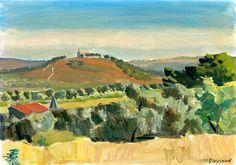 Maurice Barraud. 1889 - 1954. LA COLLINE SAINTE CROIX, CASSIS THE SAINTE CROIX HILL, CASSIS