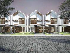 New Apartment Facade Design Architecture Townhouse Ideas Terrace House Exterior, Facade House, Modern Townhouse, Townhouse Designs, Facade Design, Exterior Design, Duplex House Design, Apartment Design, Cluster House