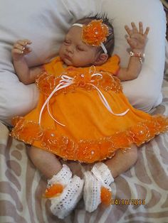Reborn Preemie Baby Girl Chelsy with Molted Skin Tones | eBay