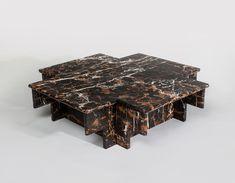 Christopher Stuart-Ziggurat Coffee Table, Marble