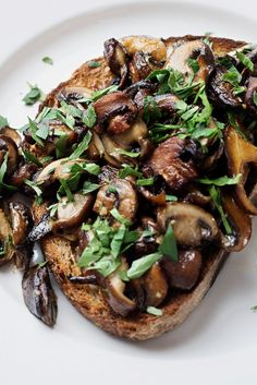 NYT Cooking: Beloved by British and other Anglophone cooks, mushrooms on toast is a hearty savory dish that can be made quickly. It's cheap and delicious if you use ordinary cultivated mushrooms, and suitable for any time of day: breakfast, lunch, tea, dinner or late snack. One pound of mushrooms is just right for two servings.