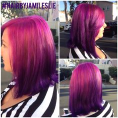 Pink to purple ombré. Obsessed!!! Hair by Jami Leslie. Tiger Tail Salon, Carlsbad CA