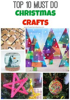 This year I have a goal. I will do 10 awesome christmas crafts with the kids! Some are old favorites and some are new that I am just dying to try out! Salt Dough Making salt dough ornaments has become a tradition in our house. See how to make salt dough ornaments. Things with Glitter! …