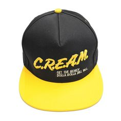 The Giant Peach -  Wu-Tang Brand Limited - CREAM Snapback Men's Hat, Black/Yellow, $24.00 (http://www.thegiantpeach.com/wu-tang-brand-limited-cream-snapback-mens-hat-black-yellow/)