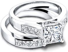 Jeff Cooper Wide Channel-Set Princess Cut Engagement Ring R3146
