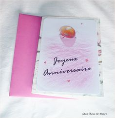 Carte double Anniversaire Coccinelle et pétale de rose  10x15cm de Céline Photos Art Nature