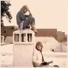 Anita Pallenberg & Brian Jones from the Rolling Stones in Morocco