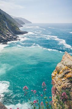 View from Vernazza in Cinque Terre, Italy We can't wait to take our real swim-able mermaid tails from Fin Fun Mermaid here! www.FinFunMermaid.com