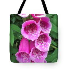 Marina Usmanskaya Fineart Photography Tote Bag featuring the photograph Wild Bells by Marina Usmanskaya#MarinaUsmanskayaFineArtPhotography #ArtForHome #FineArtPrints #Foxglove