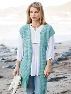 ANNIE'S SIGNATURE DESIGNS: Passionista Vest Knit Pattern from Annie's Craft Store. Order here: https://www.anniescatalog.com/detail.html?prod_id=131027&cat_id=469