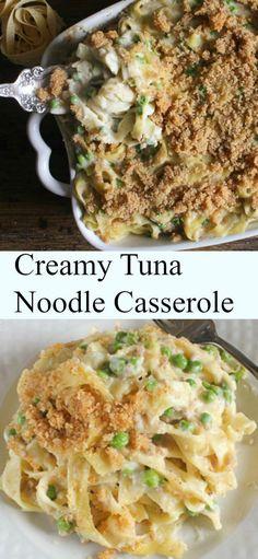Creamy Tuna Noodle Casserole, quick, easy and so creamy, a delicious healthy tuna casserole recipe. You pick the veggie / http://anitalianinmykitchen.com