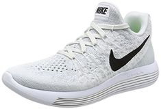 low priced 74a60 21dc4 NIKE Womens Lunarepic Low Flyknit 2 WhiteBlackPure Platinum Running Shoe 8  Women