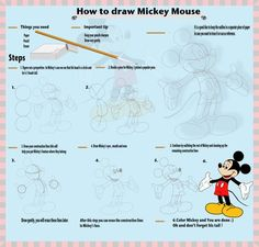 How to draw Mickey Mouse :)  Contact me if you would like to purchase a poster of this image. http://ivanbautista.com